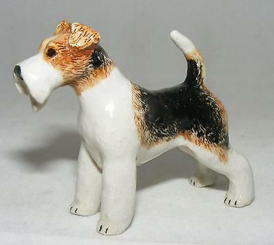 Klima Miniature Porcelain Animal Figure Wire Haired Fox Terrier Standing L791
