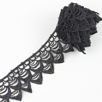 3Yd Wide Black Off white Lace Trims Ribbon Applique Sewing Trimmings DIY Crafts
