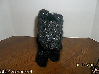 "Harrods Black Scotty Scottish Terrier Puppy Dog Plush 8"" Tall"