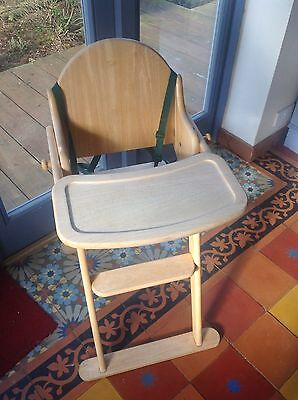 East Coast folding wooden rubberwood highchair toddler chair with harness