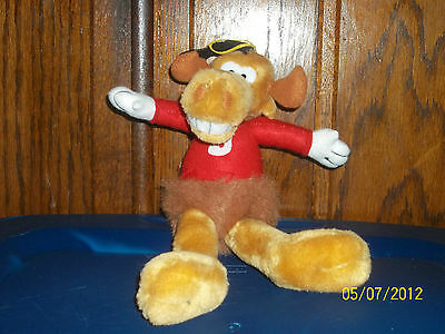 Nanco Rocky & Bullwinkle Moose Plush In Red Shirt