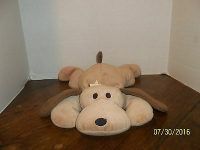 1994 Ty Tan Brown Woof The Puppy Dog Plush Pillow Pal Beanie Baby