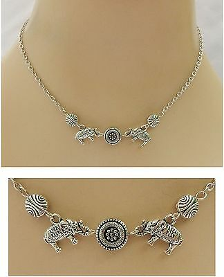 Silver Elephants Strand Necklace Handmade NEW Accessories Fashion Chain