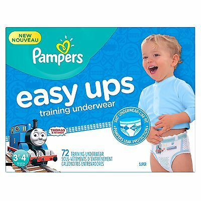 Pampers Easy ups training underwear boys size 5 3t-4t 72 count Size 3T-4T