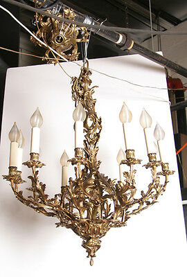 Gilt Bronze Twelve-Arm Chandelier, Rococo Style