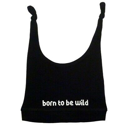 Born To Be Wild Baby Hat Infant Metal Kids Boys Girls Blue White Black Pink New