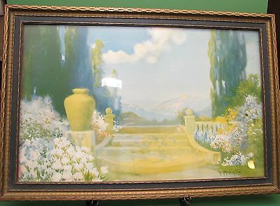 Vintage R. Atkinson Fox Art Deco Print signed Named DREAMLAND