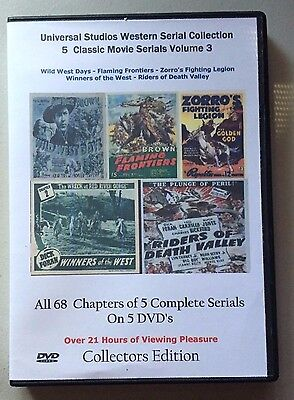 Universal Studios Western Serial Cliffhanger Movies Collection 5 DVD Vol -3