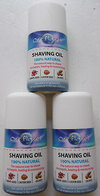 One Planet Shaving Oil 100% Natural for Sensitive Skin-30ML