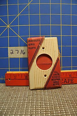 NOS Round Switch Plate Cover