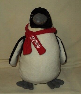 "Coca Cola Plush Penguin ~ 10.5"" ~ Collectible Stuffed Animal ~ 2007 Best Play"