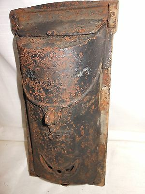 Architectural Salvage Vintage Cast Iron Post Mail Box