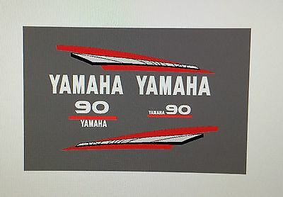Yamaha 2-Stroke 60/70/85/90hp Outboard Engine MARINE VINYL Decal Kit