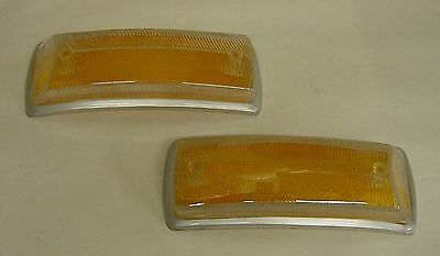 VW bay bus type 2 1968 - 1971 plastic turn signal lens clear w/ amber each htf