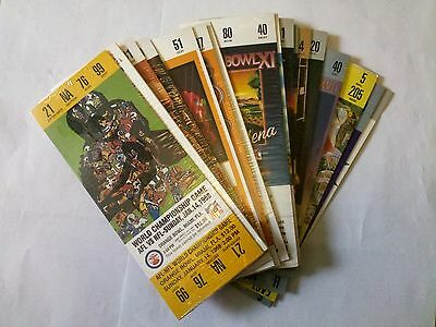 2002 Budweiser Super Bowl XXXVII Commemorative Game Day Tickets