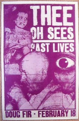 THEE OH SEES 2010 Gig POSTER Portland Oregon Concert