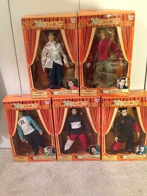 NSYNC Collectible Marionette Dolls Set of 5 LIVING TOYZ