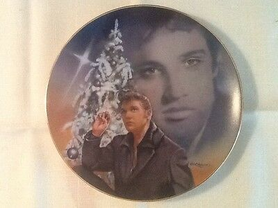"""Elvis Presley Ltd. Ed. Plate """"BLUE CHRISTMAS"""" - #4 from Hit Parade Colleciton"""
