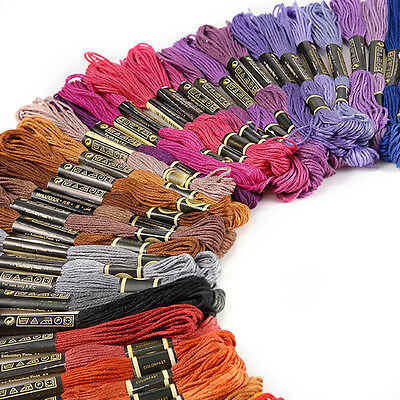 100 150 200 250 Colors Cross Stitch Cotton Embroidery Thread Floss Sewing Skeins