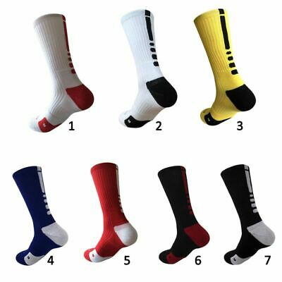 Useful Men Cotton Cushioned Crew-Athletic Dri-Fit Football Basketball Sport Sock