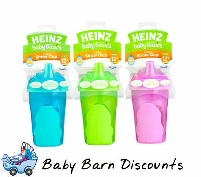 Heinz Baby Basics Toddler Straw Cup (Stage 5) for 12m+ 280ml - Blue