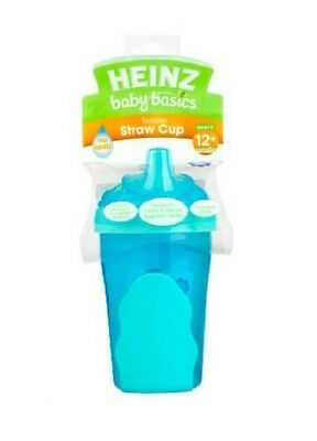 Heinz Baby Basics Toddler Straw Cup (Stage 5) for 12m+ 280ml - Pink