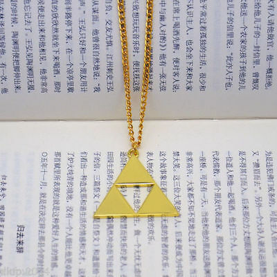 Cool Free shipping The Legend of Zelda Acrylic Triforce cosplay Necklace pendant