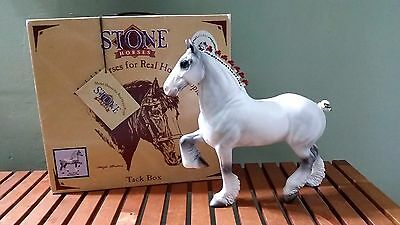 SIGNED 1998 Peter Stone Holiday Christmas Clydesdale Draft Horse Like Breyer