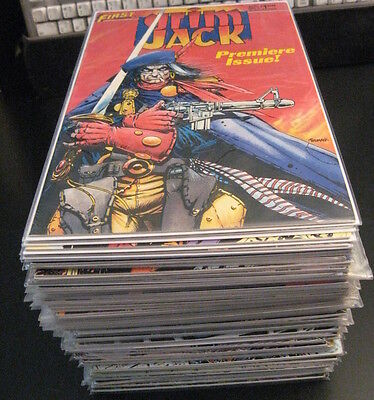 Wow! GRIM JACK #1-81+SHATTER 1-14+DY JOE 1-15+4  *3* COMPLETE SETS! First Comics