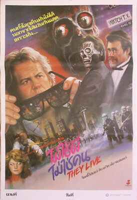They Live (1988) Thai HORROR Movie Poster