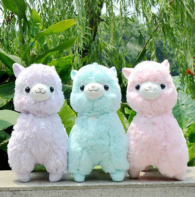 HOT Cute Solid color Alpaca Llama Plush Toy gift W023