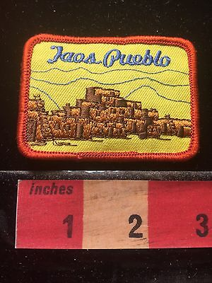 Vtg TAOS PUEBLO New Mexico Patch ~ Native American Indian 69WO