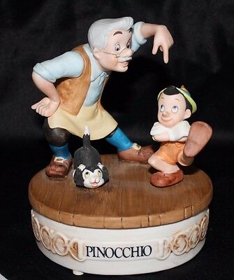 Adorable Numbered Limited Edition Disney Collection Pinocchio Music Box #8731