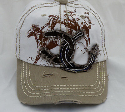 Lucky Shoe Bucking Bronco Cap