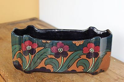 Antique Vintage Handpainted Planter box. Ceramic.