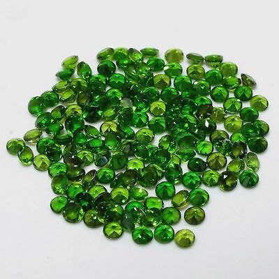 1mm - 8mm Natural Chrome Diopside Faceted Cut Round Top Quality Loose Gemstone