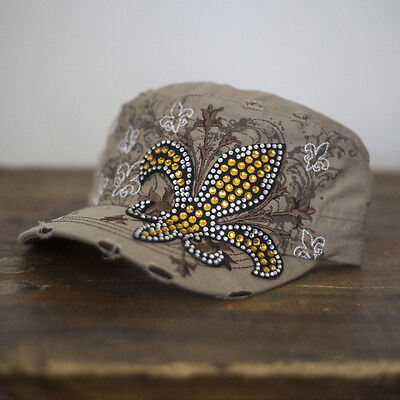 Dublin Cross Bling Cap - Beige