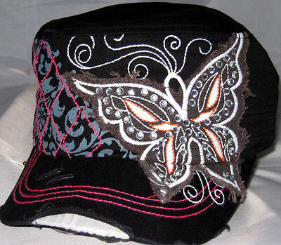 Butterfly Bling Cap