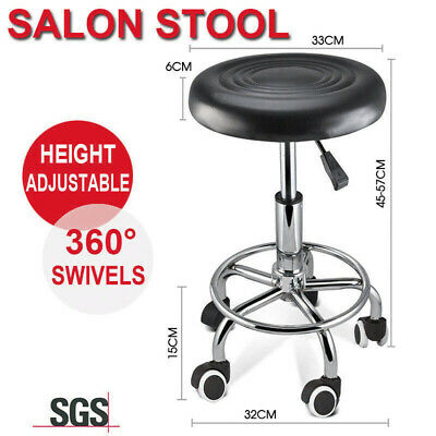 Salon Stool Hairdressing Barber Chair Beauty Swivel PU Leather Hydraulic Lift