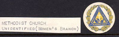 Poster Stamp / Seal: METHODIST CHURCH, WOMAN'S BRANCH, CA. 1930'S ?