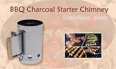 330 Stainless - Charcoal BBQ Fire Starter Chimney - Hi-speed Charcoal Starter