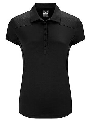 Callaway Ladies Chev Embossed Polo II - Caviar