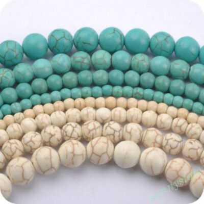 Wholesale Natural Gemstone Turquoise Round Spacer Loose Beads DIY Jewellery Hot