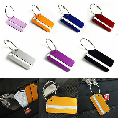 1pc Aluminium Luggage Tags Suitcase Label Name Address ID Bag Baggage Tag Travel