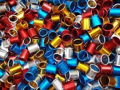 40 x 8mm aluminium pigeon rings - Very light weight - Supplied by 'NPR'
