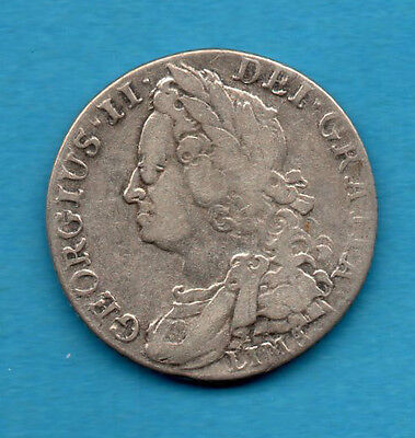 1745 King George Ii Silver Shilling Coin.   1/-    Lima Below Bust.