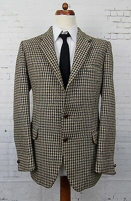 Vintage 60s / 70s Houndstooth Harris Tweed Jacket by Hardy Amies -42- BW71