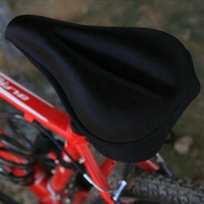 Silicone Gel Thick Soft Bicycle Bike Cycling Saddle Seat Cover Cushion Pad IM