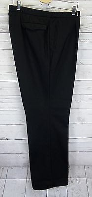 Vintage Black Pleated Tapered Thick Wool Trousers W35 L30 CL84