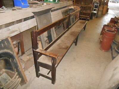 Original antique oak Church/Chapel/School pew bench reclaimed one of four